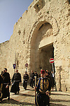 Israel, Jerusalem, the Franciscan Holy Thursday procession at Zion Gate