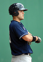 Scranton-Wilkes Barre Yankees catcher JESUS MONTERO during a game vs. the Pawtucket Red Sox at McCoy Stadium in Pawtucket, Rhode Island on August 8, 2010.  Photo By Ken Babbitt/Four Seam Images