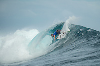 Namotu Island Resort, Nadi, Fiji (Monday, June 6 2016): Taj Burrow (AUS) - The Fiji Pro, stop No. 5 of 11 on the 2016  WSL Championship Tour, witnessed heated head-to-head match-ups as the world's best surfers fought through elimination Round 2 in four-to-six foot (1 - 2 metre) waves at Cloudbreak. Round Two was completed with the new longer period swell from the West slowly dropping during the day. Photo: joliphotos.com