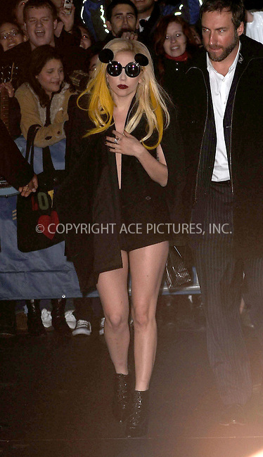 WWW.ACEPIXS.COM . . . . . ....January 24 2010, New York City....Lady Gaga arriving at Radio City for a live performance on January 24 2010 in New York City....Please byline: KRISTIN CALLAHAN - ACEPIXS.COM.. . . . . . ..Ace Pictures, Inc:  ..(212) 243-8787 or (646) 679 0430..e-mail: picturedesk@acepixs.com..web: http://www.acepixs.com