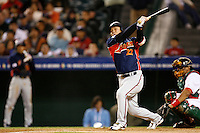 Tomoya Satozaki of Japan during World Baseball Championship at Petco Park in San Diego,California on March 14, 2006. Photo by Larry Goren/Four Seam Images