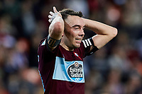 1st February 2020; Mestalla, Valencia, Spain; La Liga Football,Valencia versus Celta Vigo; Iago Aspas of Celta reacts