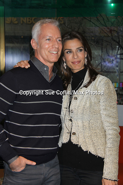 """Days of our Lives Greg Meng (Executive in charge of Production) & Kristian Alfonso at a book signing for """"Days Of Our Lives: A celebration in Photos - 45 years"""" on February 25, 2011 at the NBC Experience Store, Rockefeller Center, New York City, New York. (Photo by Sue Coflin/Max Photos)"""