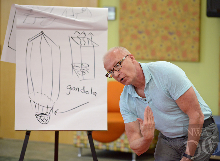 NWA Democrat-Gazette/BEN GOFF @NWABENGOFF<br /> Henry Cole, an author and illustrator from Washington, D.C., entertains families with humorous stories and sketching on Saturday April 23, 2016 during the 2nd Annual Bentonville Youth Literature Festival at the Bentonville Public Library.