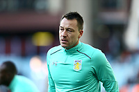 John Terry of Aston Villa warming up before the match against Birmingham City. <br /> <br /> Photographer Leila Coker/CameraSport<br /> <br /> The EFL Sky Bet Championship - Aston Villa v Birmingham City - Sunday 11th February 2018 - Villa Park - Birmingham<br /> <br /> World Copyright &copy; 2018 CameraSport. All rights reserved. 43 Linden Ave. Countesthorpe. Leicester. England. LE8 5PG - Tel: +44 (0) 116 277 4147 - admin@camerasport.com - www.camerasport.com