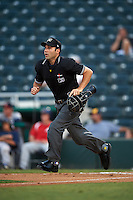 Umpire Grant Conrad during a game between the Brevard County Manatees and Fort Myers Miracle on April 13, 2016 at Hammond Stadium in Fort Myers, Florida.  Fort Myers defeated Brevard County 3-0.  (Mike Janes/Four Seam Images)