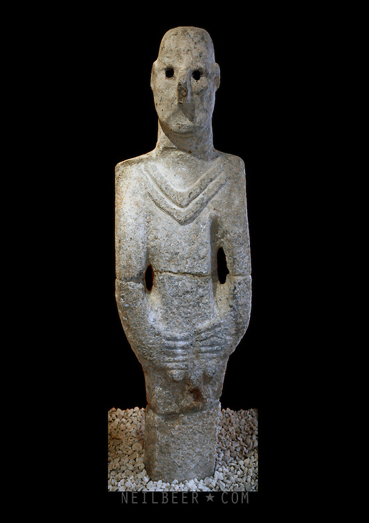 The Balıklıg&ouml;l Statue in Urfa Museum in Turkey It is the oldest Statue discovered to date.<br />