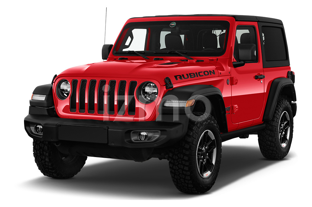 2019 JEEP Wrangler Rubicon 5 Door SUV Angular Front stock photos of front three quarter view