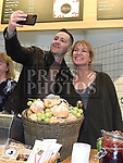 Keith Barry And Rachel Allen take a selfie at the official opening of Abrakebabra and O'Brien's Sandwich bar in Scotch Hall. Photo:Colin Bell/pressphotos.ie