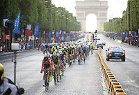 Thomas De Gendt (BEL/Lotto-Soudal) in his favourite position: up front!<br /> <br /> Final stage 21 - Chantilly › Paris/Champs Elysées (113km)<br /> 103rd Tour de France 2016