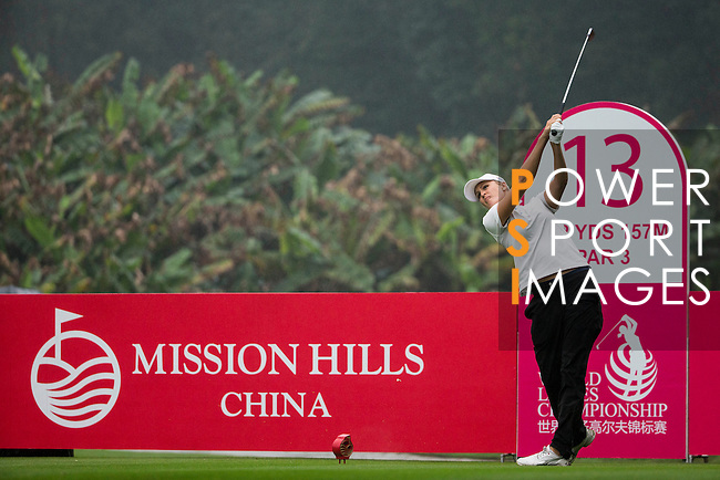 Camilla Lennarth of Sweden plays during the Pro-Am Tournament part of the World Ladies Championship 2016 on 09 March 2016 at Mission Hills Olazabal Golf Course in Dongguan, China. Photo by Victor Fraile / Power Sport Images