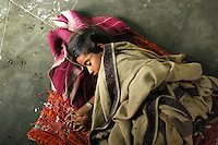 Maldhari child sleeping in her home..Michael Benanav - mbenanav@gmail.com