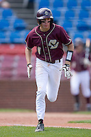 Brad Zapenas #2 of the Boston College Eagles hustles down the first base line versus the Wake Forest Demon Deacons at Wake Forest Baseball Park April 11, 2009 in Winston-Salem, NC. (Photo by Brian Westerholt / Four Seam Images)