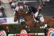 28th September 2017, Real Club de Polo de Barcelona, Barcelona, Spain; Longines FEI Nations Cup, Jumping Final; Scott BRASH (GBR) riding Ursula XII during the first round of the Nations Cup