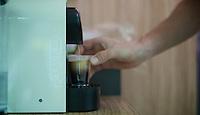 essential gasoline for the riders: espressos! <br /> <br /> 2014 Tour de France<br /> stage 18: Pau - Hautacam (145km)