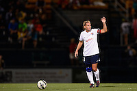 Sky Blue FC defender Christie Rampone (3) readies for a free kick. The Western New York Flash defeated Sky Blue FC 2-0 during a National Women's Soccer League (NWSL) semifinal match at Sahlen's Stadium in Rochester, NY, on August 24, 2013.