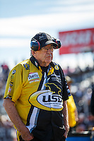 Feb 26, 2017; Chandler, AZ, USA; NHRA funny car team owner Jim Dunn during the Arizona Nationals at Wild Horse Pass Motorsports Park. Mandatory Credit: Mark J. Rebilas-USA TODAY Sports