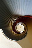 USA, California, San Diego, a view of the spiral staircase inside Point Cabrillo Light Station, a California State Historic Park