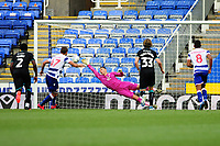 George Pușcaș of Reading scores his side's equalising goal to make the score 1-1 during the Sky Bet Championship match between Reading and Swansea City at the Madejski Stadium in Reading, England, UK. Wednesday 22 July 2020.
