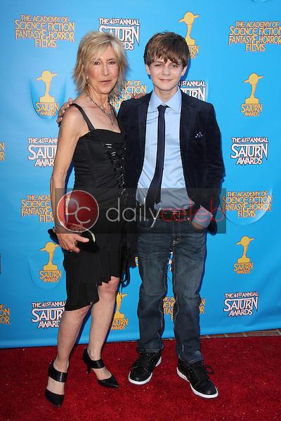 Lin Shaye, Ty Simpkins<br /> at the 41st Annual Saturn Awards, The Castaway, Burbank, CA 06-25-15<br /> David Edwards/Dailyceleb.com 818-249-4998