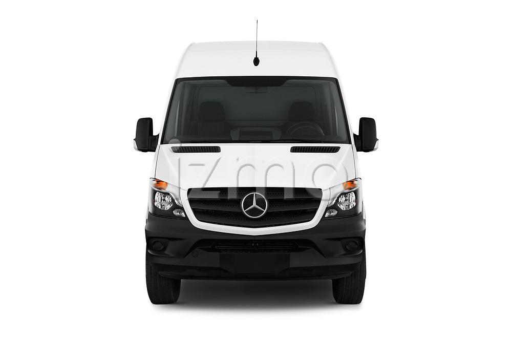 Car photography straight front view of a 2017 Mercedes Benz Sprinter Base 4 Door Cargo Van
