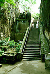 Bahamas: Nassau: Queen's Steps, staircase.  Photo: bahama104.Photo copyright Lee Foster, 510/549-2202, lee@fostertravel.com, www.fostertravel.com