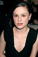 ANNA PAQUIN<br /> OLYMPUS FASHION WEEK: NARCISO RODRIGUEZ SPRING 2005-CELEBS. BRYANT PARK, NEW YORK CITY. 09/14/2004<br /> <br /> Photo By John Barrett/PHOTOlink