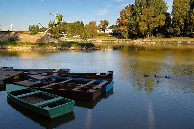 River Raba and Mosoni Duna joining place - ( Gy?r )  Gyor Hungary