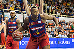 FC Barcelona Lassa's Joey Dorsey during the match of Endesa ACB League between Fuenlabrada Montakit and FC Barcelona Lassa at Fernando Martin Stadium in fuelnabrada,  Madrid, Spain. October 30, 2016. (ALTERPHOTOS/Rodrigo Jimenez)