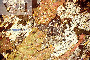 Thin section of tourmaline mica. - LM