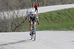 Gino Mader (SUI) Team Dimension Data on sector 8 Monte Santa Maria during Strade Bianche 2019 running 184km from Siena to Siena, held over the white gravel roads of Tuscany, Italy. 9th March 2019.<br /> Picture: Eoin Clarke | Cyclefile<br /> <br /> <br /> All photos usage must carry mandatory copyright credit (© Cyclefile | Eoin Clarke)