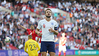 England's Harry Kane after seeing his first half goal ruled out for offside<br /> <br /> Photographer Rob Newell/CameraSport<br /> <br /> UEFA European Championship Qualifying Group A - England v Bulgaria - Saturday 7th September 2019 - Wembley Stadium - London<br /> <br /> World Copyright © 2019 CameraSport. All rights reserved. 43 Linden Ave. Countesthorpe. Leicester. England. LE8 5PG - Tel: +44 (0) 116 277 4147 - admin@camerasport.com - www.camerasport.com