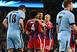 Xabi Alonso of Bayern Munich (c) celebrate his goal  - UEFA Champions League group E - Manchester City vs Bayern Munich - Etihad Stadium - Manchester - England - 25rd November 2014  - Picture Simon Bellis/Sportimage