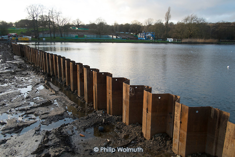 Hampstead Heath Ponds Project, a £22 million flood defence programme of dam strengthening and spillway construction designed to protect neighbouring areas of north London from extreme rainfall events.