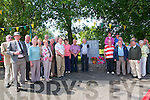 Shannon Drowning Remembrance: Group pictured at the memorial to the Shannon drowning tragedy that happened on the 15th August 1893.