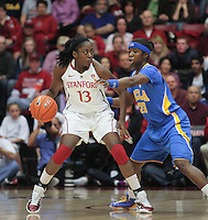 STANFORD, CA - January 20, 2011: Chiney Ogwumike during Stanford's 64-38 victory over UCLA at Stanford, California on January 20, 2011.