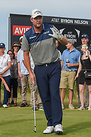 Marc Leishman (AUS) watches his tee shot on 8 during round 4 of the AT&T Byron Nelson, Trinity Forest Golf Club, at Dallas, Texas, USA. 5/20/2018.<br /> Picture: Golffile | Ken Murray<br /> <br /> All photo usage must carry mandatory copyright credit (© Golffile | Ken Murray)