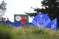 Lizette Salas Team USA on the 8th tee during Day 1 Fourball at the Solheim Cup 2019, Gleneagles Golf CLub, Auchterarder, Perthshire, Scotland. 13/09/2019.<br /> Picture Thos Caffrey / Golffile.ie<br /> <br /> All photo usage must carry mandatory copyright credit (© Golffile | Thos Caffrey)