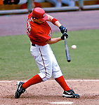 5 August 2007: Washington Nationals outfielder Austin Kearns in action against the St. Louis Cardinals at RFK Stadium in Washington, DC. The Nationals defeated the Cardinals 6-3 to sweep their 3-game series...Mandatory Photo Credit: Ed Wolfstein Photo