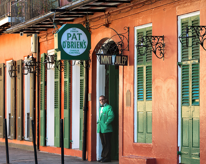 World famous Pat O'Brien's bar in the French Quarter of New Orleans.