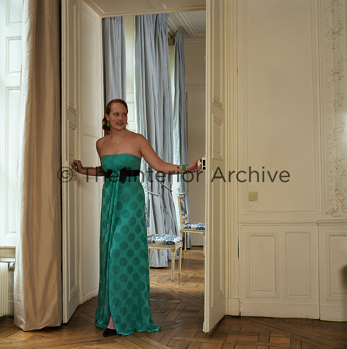 Anne Grauso in her Paris apartment