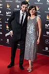 Alex Gertrudis and Maria Alvarez attends red carpet of Feroz Awards 2018 at Magarinos Complex in Madrid, Spain. January 22, 2018. (ALTERPHOTOS/Borja B.Hojas)