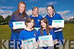 Students at St Brigids Secondary School receiving their awards last Thursday afternoon .Orla Sullivan, Jennifer Courtney, Michelle Flemming.Rebecca Mulchahy  and Niamh O Donoghue
