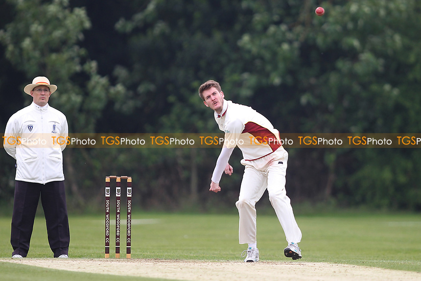 Bradley Copper of South Woodford during South Woodford CC vs Billericay CC, Shepherd Neame Essex League Cup Cricket at Highfield Road on 6th May 2017