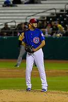 Tennessee Smokies pitcher Justin Hancock (35) during a Southern League game against the Biloxi Shuckers on May 25, 2017 at Smokies Stadium in Kodak, Tennessee.  Tennessee defeated Biloxi 10-4. (Brad Krause/Krause Sports Photography)