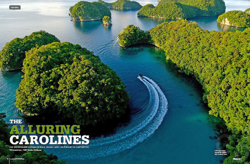 10 page article and Cover - On Micronesia and the pacific first published in Asian Geographic passport magazine in 2012 and now available for syndication and re publishing.