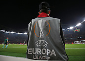 2nd November 2017, Emirates Stadium, London, England; UEFA Europa League group stage, Arsenal versus Red Star Belgrade; Ball boy wearing UEFA Europa League bib before kick off