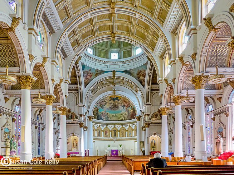 Saint Leonards Church, in Boston's North End, was the first Roman Catholic Church in New England built by Italian immigrants.  Boston, Massachusetts, USA