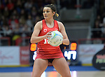 Wales Nia Jones in action during todays match   <br /> <br /> Swansea University International Netball Test Series: Wales v New Zealand<br /> Ice Arena Wales<br /> 08.02.17<br /> &copy;Ian Cook - Sportingwales
