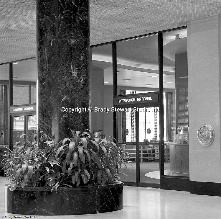 Pittsburgh Pa:  View of the Grant Building lobby - 1968.  Photographic assignment was for a brochure to highlight upgrades to the building and to solicit more tenants.  The 40 story Grant Building is located at 310 Grant Street and was built in 1929.